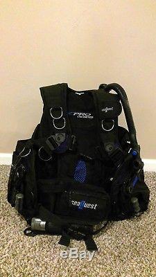 Seaquest Aqualung Pro Unlimited Jacket BCD Size M/L for Scuba Diving