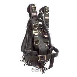Sopras Tek Adjustable Sidemount Bcd Black Technical Diving Side Mount Scuba Tech