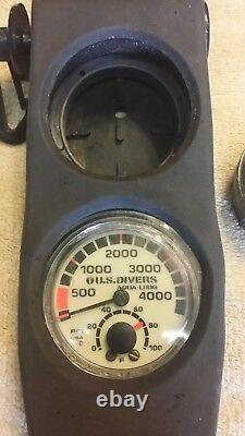 U. S. Divers Vintage Dive Console with Regulator Conshelf SE2 + Octopus SBG