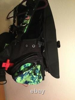 ZEAGLE Black Scuba Dive Vest Buoyancy Compensator 35 Ib