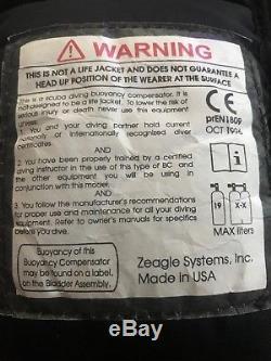 Zeagle Escape BCD Medium Bouyancy Compensator size Med M BC SCUBA