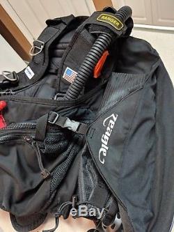 Zeagle Ranger LTD BCD Buoyancy Compensator Device Large Black Scuba Diver Sport